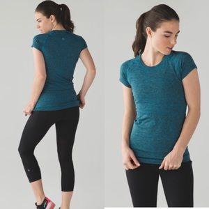Lululemon Swiftly Tech Shirt Heathered Kayak Blue